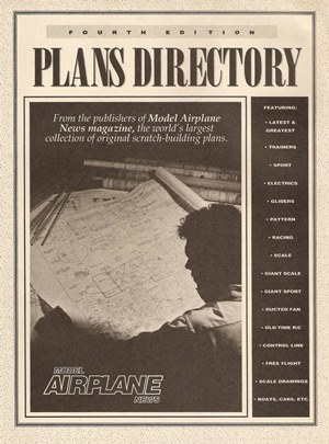 Model Airplane News Catalog Plans 1991