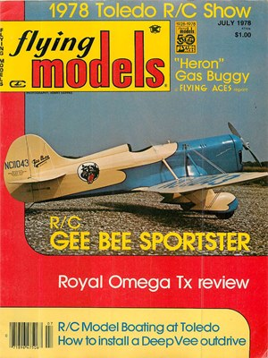 Flying Models July 1978
