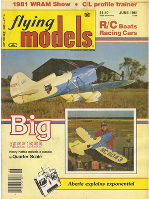 Flying Models June 1981