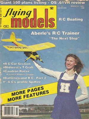 Flying Models March 1981