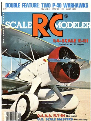 Scale RC Modeler April 1981