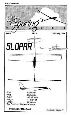 RC Soaring Digest January 1989