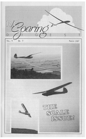 RC Soaring Digest March 1987