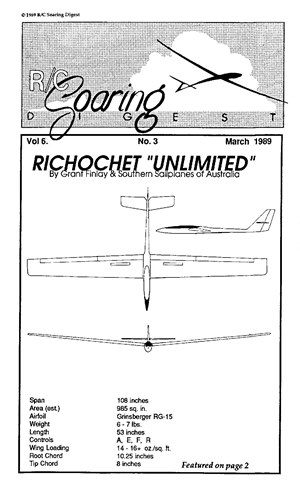 RC Soaring Digest March 1989