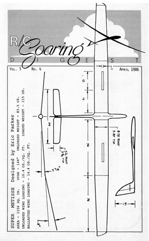RC Soaring Digest April 1986