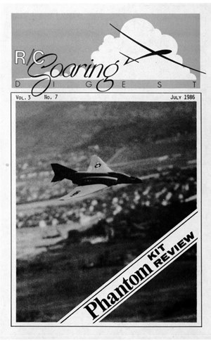 RC Soaring Digest July 1986
