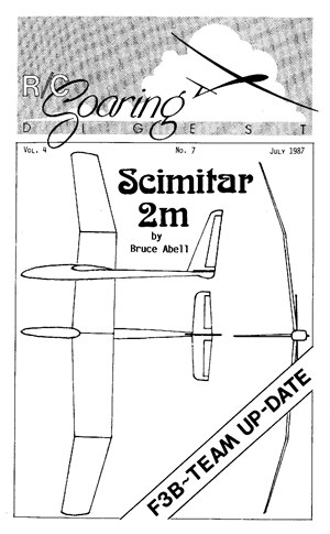 RC Soaring Digest July 1987