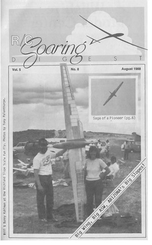 RC Soaring Digest August 1988