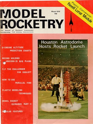 Model Rocketry March 1970