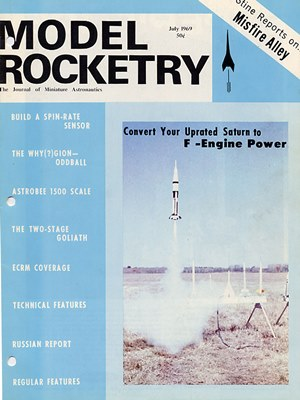 Model Rocketry July 1969