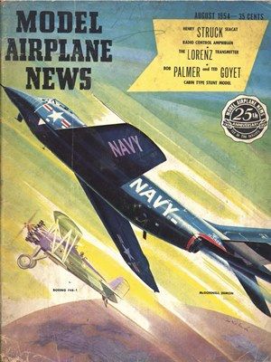 Model Airplane News August 1954