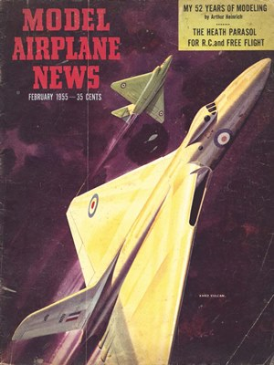 Model Airplane News February 1955