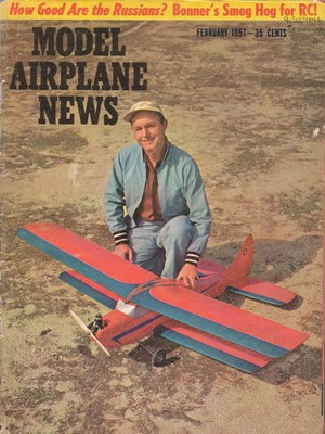 Model Airplane News February 1957