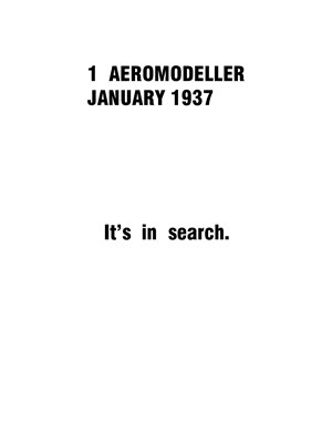 AeroModeller January 1937