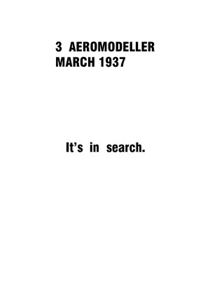 AeroModeller March 1937
