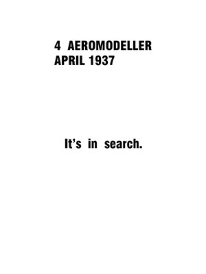 AeroModeller April 1937
