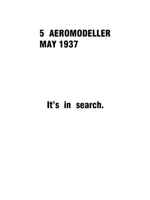 AeroModeller May 1937