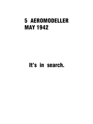AeroModeller May 1942